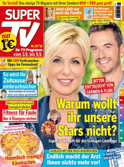 """1 Jahr """"Super TV"""" Fernsehzeitschrift für Großeltern für 62,40€ oder einem zusätzlichen Freimonat der auf den Bezugspreis angerechnet wird für 57,20€ bei Bankeinzug mit 60€ Bargeldscheck"""