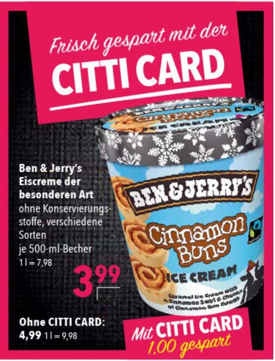 [CITTI-Markt] Ben and Jerrys 3,99€
