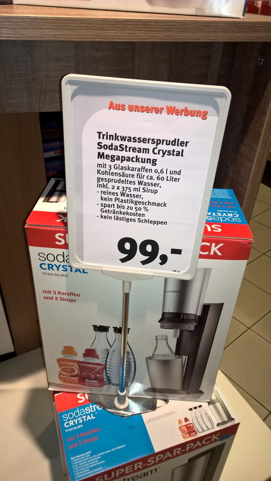 SodaStream Crystal Megapackung (evtl. Lokal) (Feneberg)