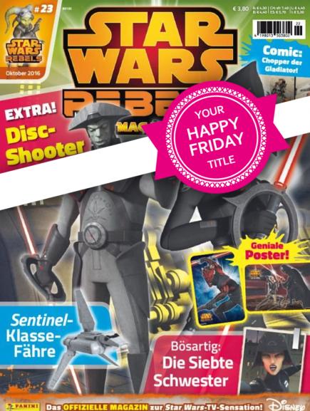 Star Wars Comic (Wert 3,80), Die Zeit (Wert 4,90€), Fisch & Fang (Wert 5,40€) und weitere - jeweils eine Ausgabe heute gratis per eazers app