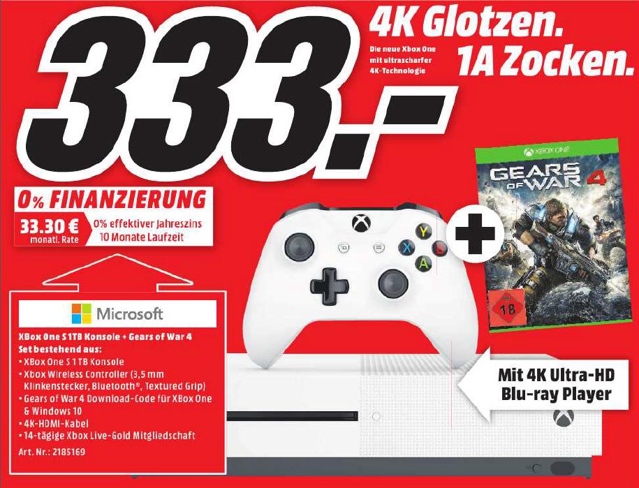 [LOKAL MediaMarkt Berlin/Brandenburg] XBOX One S - 1TB + Gears Of War 4