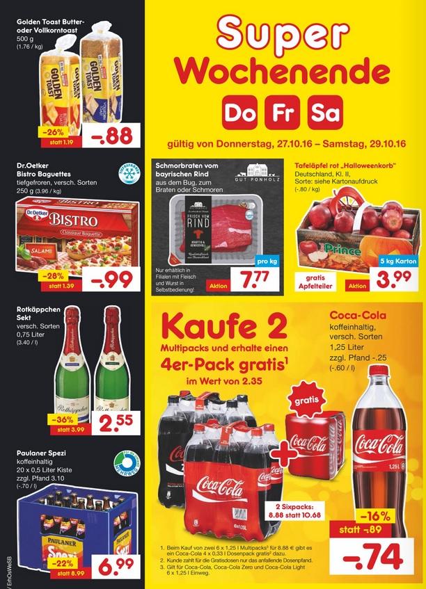 [Netto Region München] 20er Kasten Paulaner Spezi für 6,99€