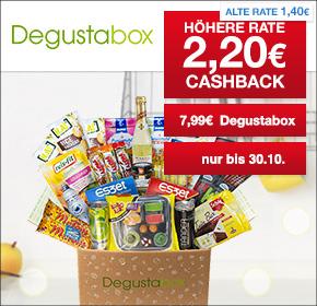Degustabox effektiv für € 5,79  nur für Neukunden, jederzeit kündbar (Shoop)