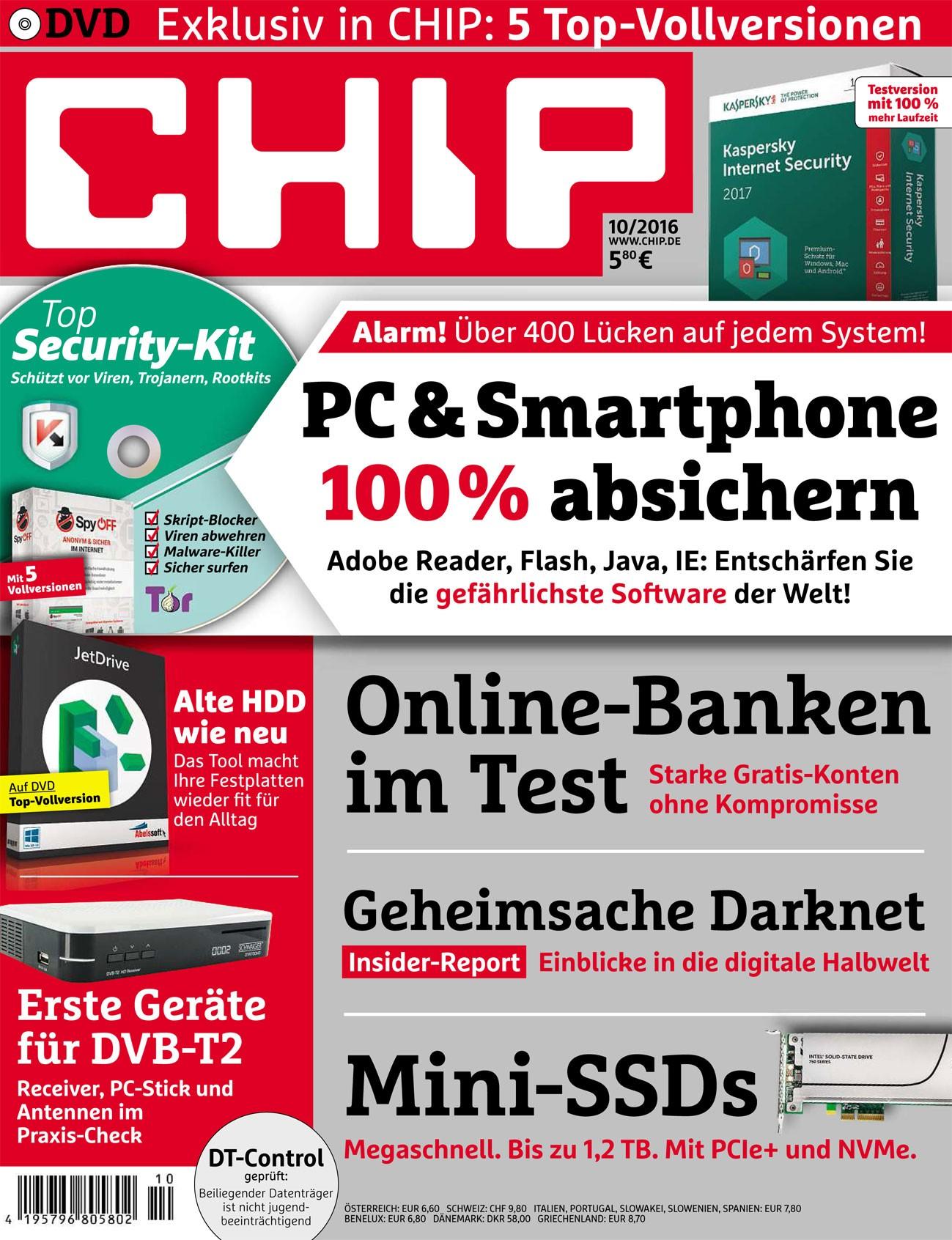 6 Ausgaben der Zeitschrift Chip mit DVD für effektiv 4,80€ (muss gekündigt werden)