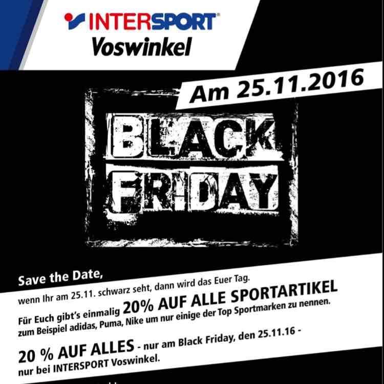 [Lokal] Berlin Alexa Intersport Black Friday 20% auf alles