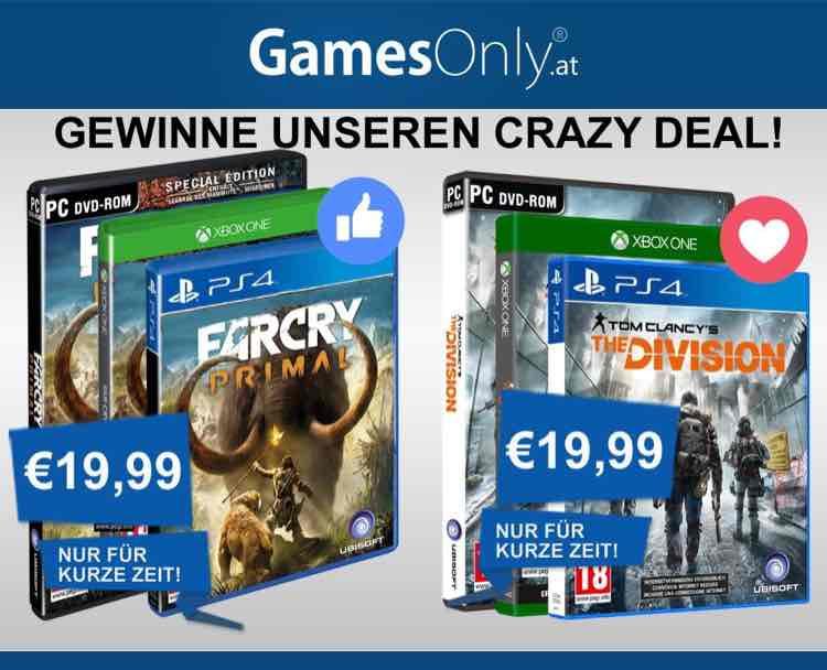 Crazy Deals: FarCry Primal und Tom Clancys The Division