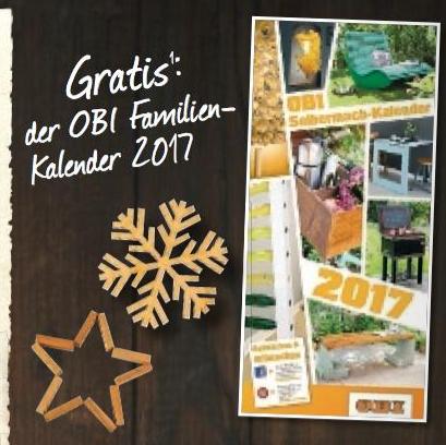 OBI - Familienkalender gratis abholen