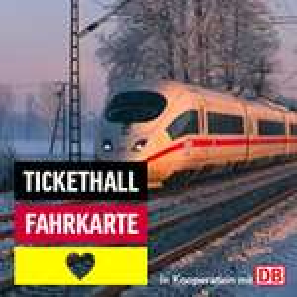 Deutschlandweite Deutsche Bahn Fahrkarte 2. Klasse für EUR 49 bei Tickethall (+10 Euro Tickethall Gutschein +Maxdome Gutschein)