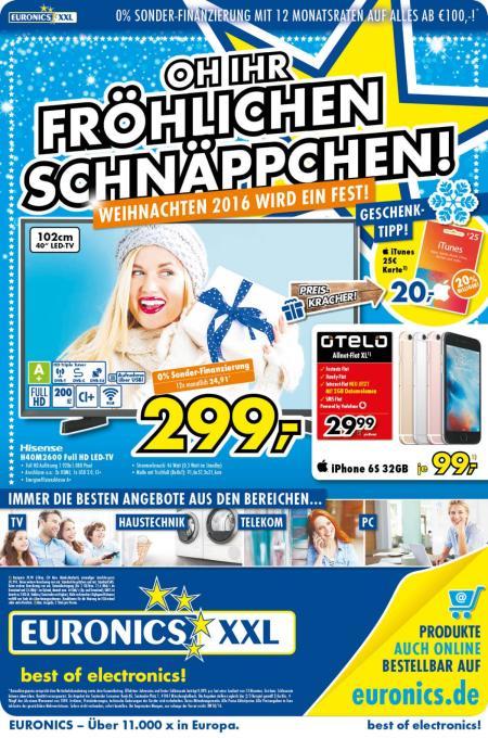 25€ Itunes Guthabenkarte für 20€ EURONICS XXL[offline] (20% Rabatt)