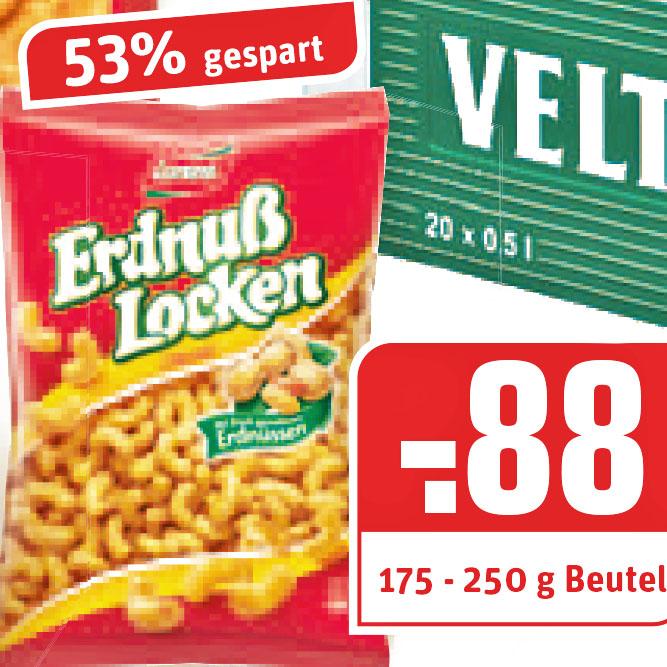 (REWE) Lorenz Crunchips und die verlockenden Erdnuss Locken für nur 0,88€ und so 53% sparen