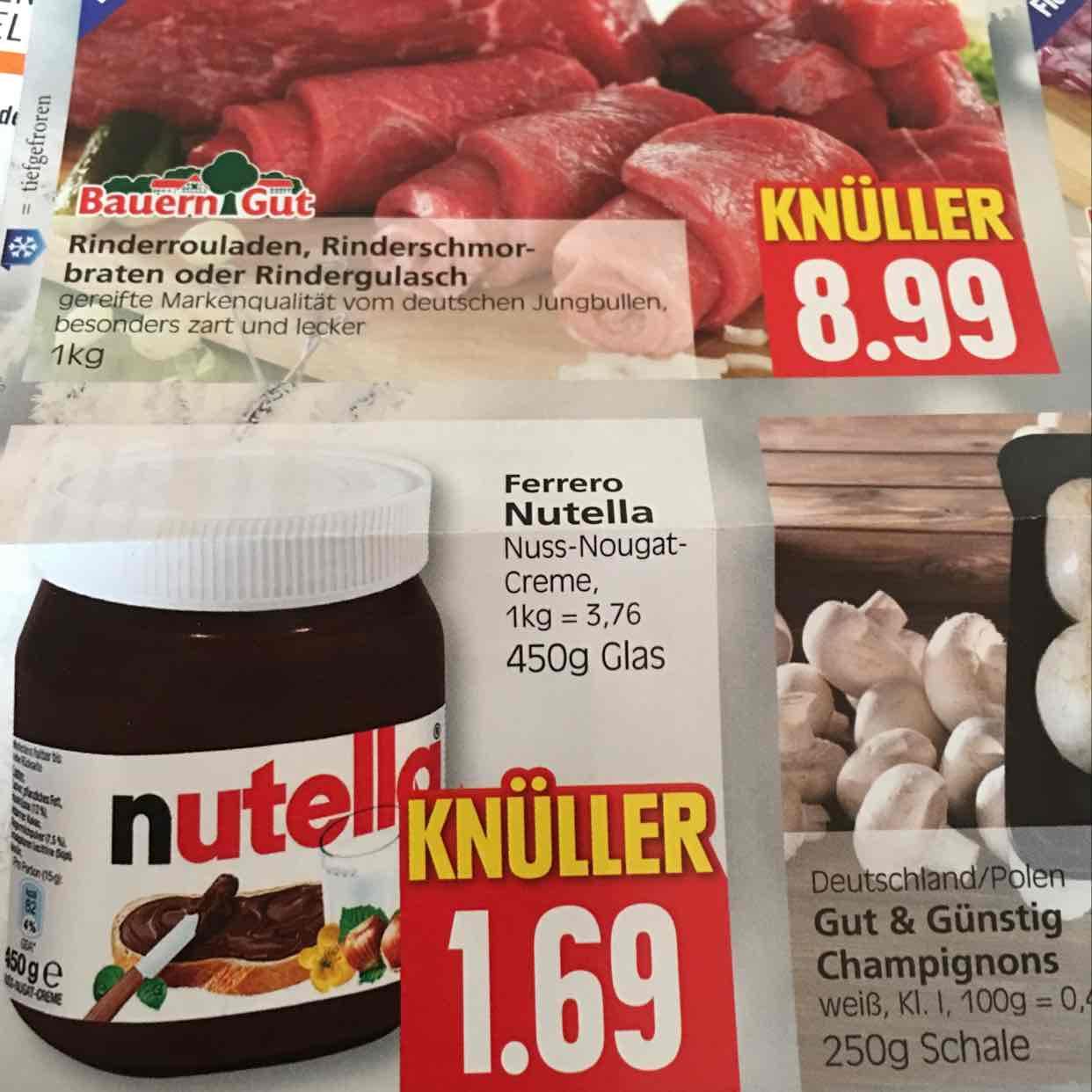 [Lokal] Ferrero Nutella bei Inselmarkt Manfred Kruse Norderney