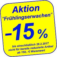 15% Frühjahrsrabatt bei Freizeitwelt auf alles mit 150€ MBW bis 28.2.