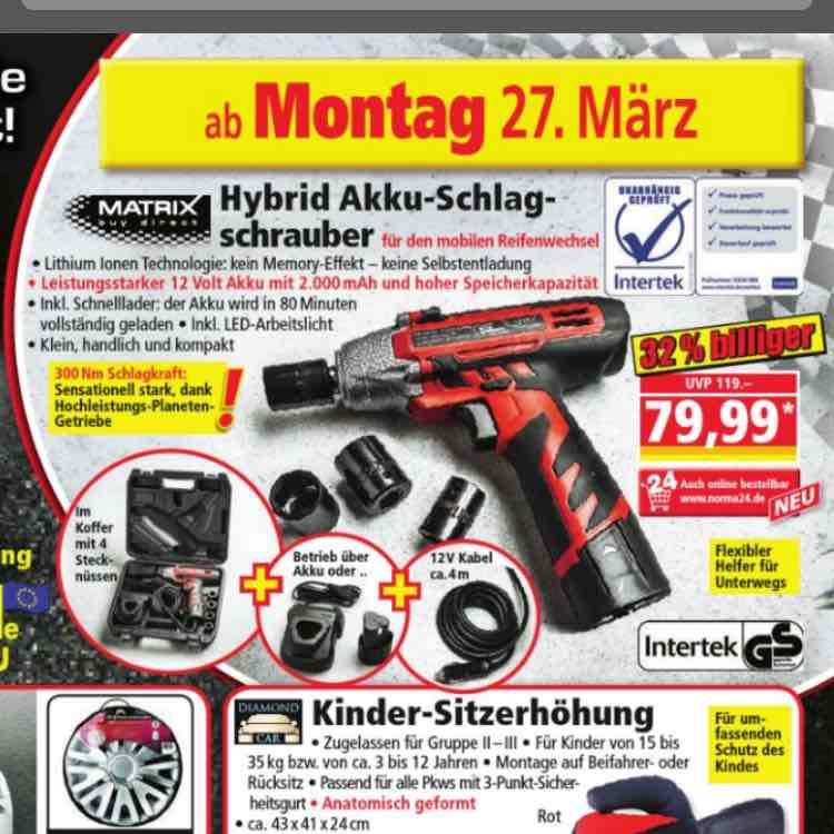 Akku Schlagschrauber 300Nm Schlagkraft bei Norma/Norma24