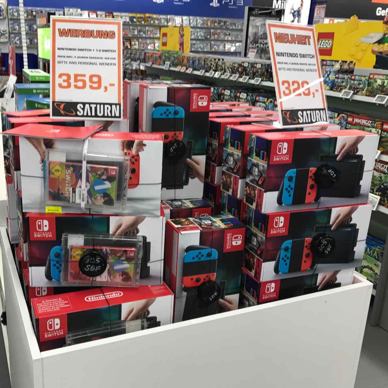 Nintendo Switch + 1,2 Switch oder Switch einzeln (Saturn Spandau)