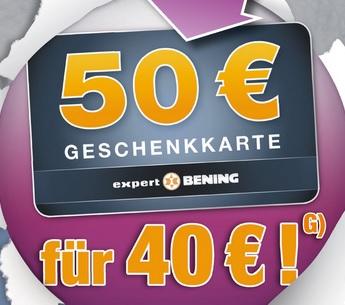 50 € Gutschein für 40 € [Lokal Expert Bening]