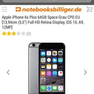 iPhone 6s Plus 64GB spacegrey für 539,90€ inkl. Versand