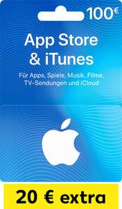 100 € iTunes Geschenkkarte mit 20 € Zusatzguthaben für 100 € @ Kaufland ab 01.03.