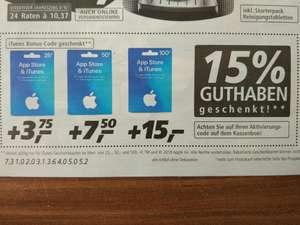 15% zusätzliches Guthaben beim Kauf von iTunes Guthabenkarten bei Real vom 26.02. - 03.03.