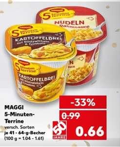Maggi 5 Minuten Terrine 8x für 3,28 im Kaufland vom 01.03 bis 07.03 (Coupon) (Stückpreis 41 Cent)