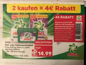 (Kaufland) 210 Stück Ariel Pods = 0,1237€ pro WL / Pulver und flüssig ebenfalls reduziert = 0,0999€ pro WL