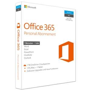[Notebooksbilliger] Microsoft Office 365 Personal [1 PC/Mac // 1 Tablet // 1 Jahr] [Software-Download]