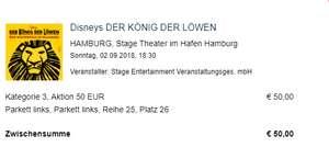 (LOKAL HAMBURG) Disneys DER KÖNIG DER LÖWEN Musical - 7000 Tickets via Travelzoo für 50€