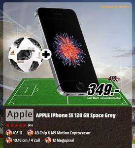 [Mediamarkt] APPLE iPhone SE 128 GB in 3 Farben + Fußball für je 349,-€
