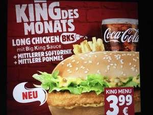 Long Chicken BKS im Menü für 3,99 Euro bei BK