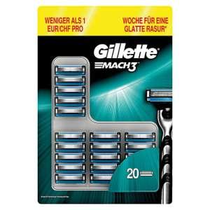 [@Rossmann] 20er Gillette Mach3 nur 1,21€ p. Klinge oder Gillette Fusion / 1,80 p. Klinge