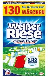 [Amazon] Weißer Riese 130 Waschladungen Weiß und Buntwäsche 11ct/wl