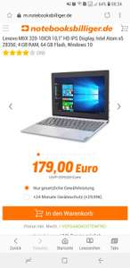 "[NBB] Lenovo Miix 320 Convertible PC / 10,1"" HD Touch Display /4 GB Ram /64GB Speicher / Versandkostenfrei"