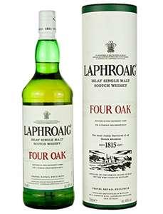 Laphroaig Four Oak Whisky mit Geschenkverpackung (1 x 1 l) [Amazon]