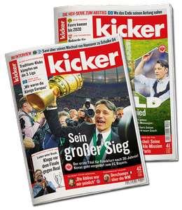 Kicker Sportmagazin. 8 kostenlose und unverbindliche Ausgaben