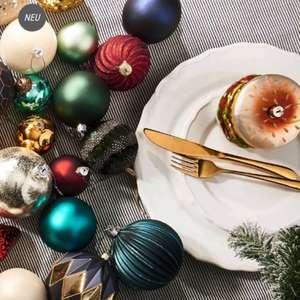 20% Rabatt auf Weihnachts- und Winterdeko bei Butlers, z.B. 6 Weihnachtskugeln aus Glas