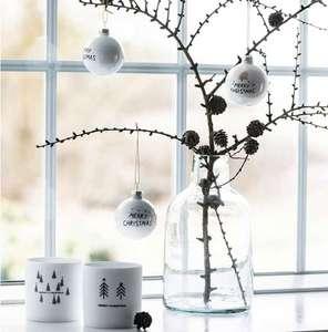 20% Rabatt auf Weihnachtsdeko mit 5€-Newletter-Gutschein kombinierbar bei Pinkmilk, z.B. Ib Laursen Weihnachtskugel-2er-Set Merry Christmas