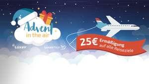 25€ Ermäßigung auf alle Flugtickets mit Luxair