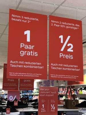 Deichmann offline 3 reduzierte Schuhe/Taschen kaufen 2 zahlen (bis 33%) oder 2 kaufen und 2. mit 50% Rabatt (bis25%) [bundesweit?]