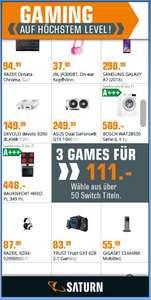 Saturn (ab 20 Uhr) 3 von 50 Switch Games für 111,- €