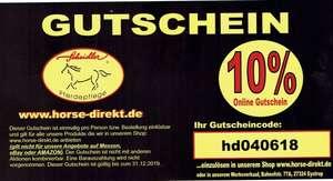 [horse-direkt.de] 10% Gutschein - z.b. Glycerin, Propylenglykol für Liquids