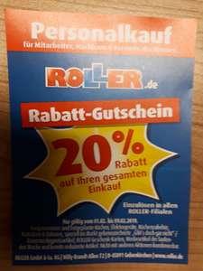 Roller: Personalkauf-Rabatt für Mitarbeiter und Freunde