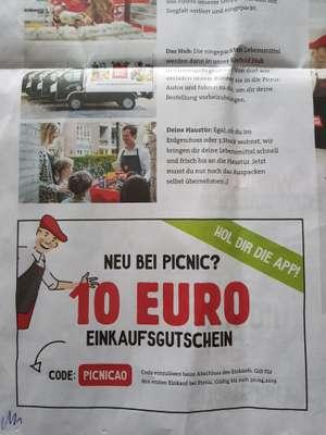 Picnic App Gutschein (nur NRW)