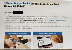 [ Amazon Visa ] 10 Fach Punkte auf Tankstellen Umsätze Kreditkarte