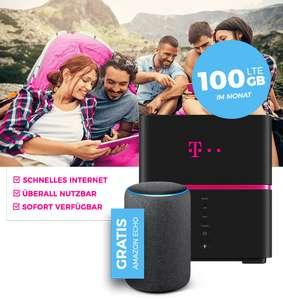 Telekom MagentaMobil Speedbox Young od. Normalos (100GB LTE) inkl. Mobiler LTE-Router + Amazon Echo Plus (2. Gen.) für 4,95€ Zuzahlung *UPDATE* oder mit Samsung Galaxy Tab S2 LTE (59,95€ ZZ), Sonos One (39,95€ ZZ) od. Bang & Olufsen BeoPlay E8 (4,95€