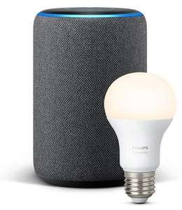 Amazon Echo Plus 2. Generation + Philips Hue White Lampe (3fach Payback Punkte für Neukunden)