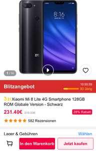 GEARBEST Xiaomi Mi 8 Lite 6GB/128GB ab morgen 8 Uhr