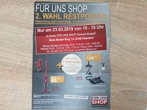 ( LOKAL ) Für Uns Shop Paderborn--Restpostenverkauf am 23.03. z.b. EQ3 S300 für 160,-
