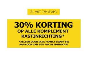 [Grenzgänger Niederlande] IKEA Family: 30% auf das PAX-Interieur KOMPLEMENT und 15% auf Schrankbeleuchtung.
