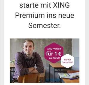 [Studenten] XING Premium für 1 Euro im Monat