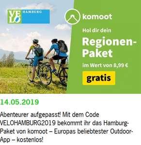 Gratis Komoot Hamburg Regions Paket zur Velohamburg