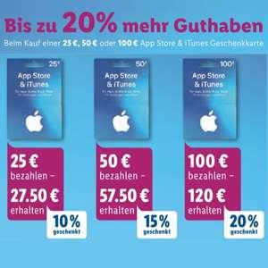 [Lidl] Bis zu 20% extra Guthaben auf App Store & iTunes Geschenkkarten